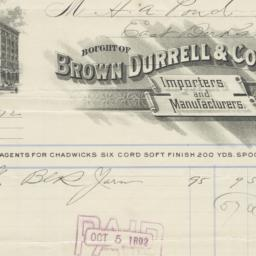 Brown, Durrell & Co.. Bill