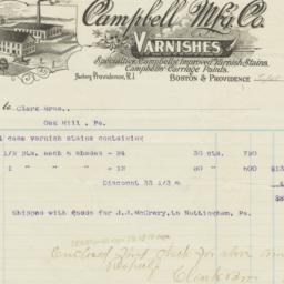 Campbell Mfg. Co.. Bill