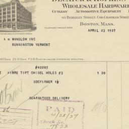 Decatur & Hopkins Co.. Bill