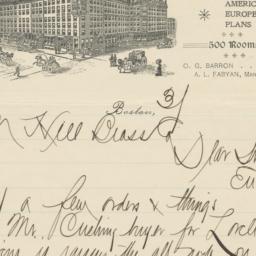 Quincy. Letter