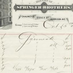 Springer Brothers. Bill