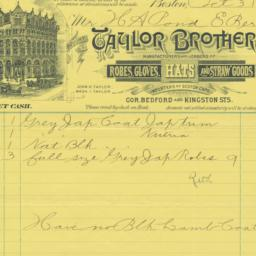 Taylor Brothers. Bill