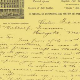 Thos. B. Adams & Co.. Letter