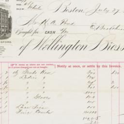 Wellington Bros. & Co.. Bill