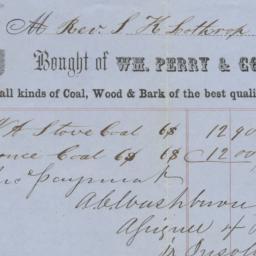 Wm. Perry & Co.. Bill