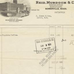 Reid, Murdoch & Co.. Bill