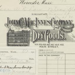 John C. MacInnes Company. Bill