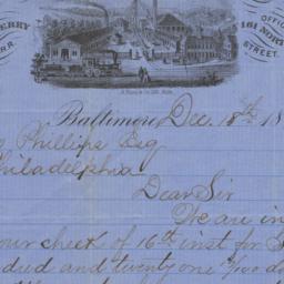 Poole & Hunt. Letter