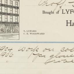 Lyford & Woodward. Bill