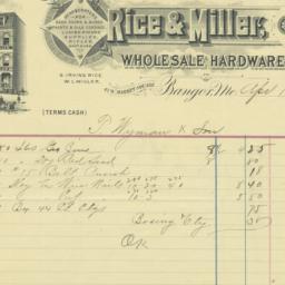 Rice & Miller. Bill