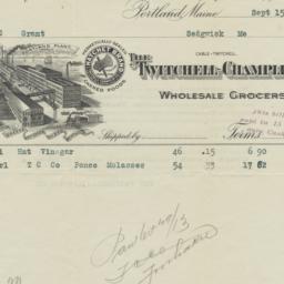 Twitchell-Champlin Co.. Bill
