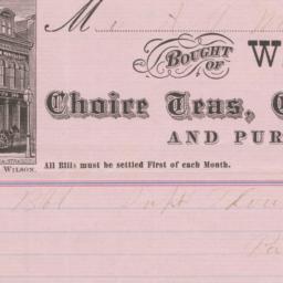 W. L. Wilson & Co.. Bill