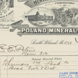 Poland Mineral Springs. Bill