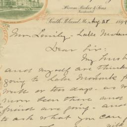Poland Spring. Letter