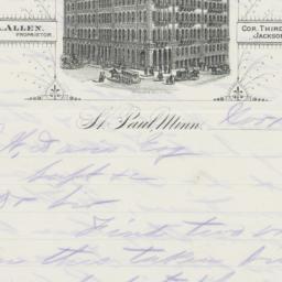 Merchants Hotel. Letter