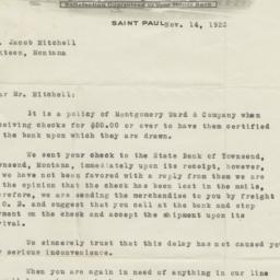 Montgomery Ward. Letter