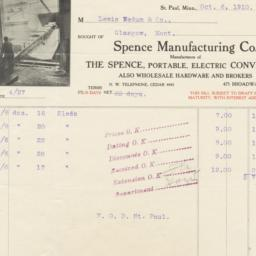 Spence Manufacturing Co.. Bill