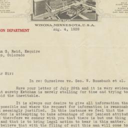 J. R. Watkins Company. Letter