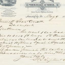 H. S. Tipton & Co.. Letter