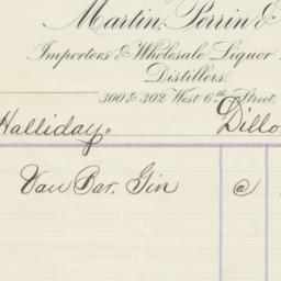 Martin, Perrin & Co.. Bill
