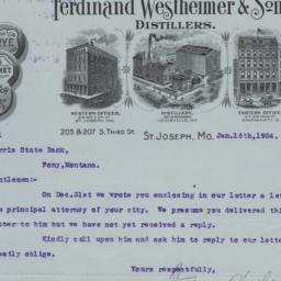 Ferdinand Westheimer & Sons...