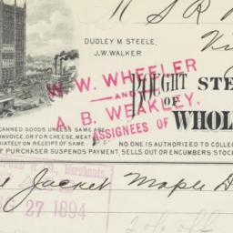 Steele & Walker. Bill