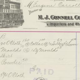M.J. Connell Company. Bill