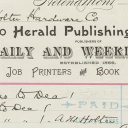 Herald Publishing Co.. Bill