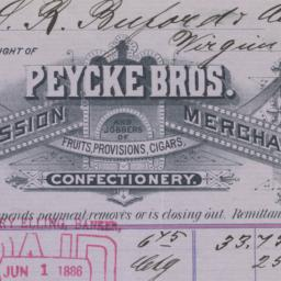 Peycke Bros. Co.. Bill