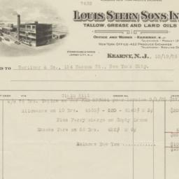 Louis Stern Sons, Inc.. Bill