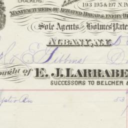E. J. Larrabee & Co.. Bill