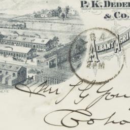 P.K. Dederick & Co.. Envelope