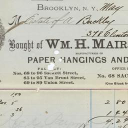 Wm. H. Mairs & Co.. Bill