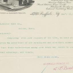Buffalo Forge Co.. Letter