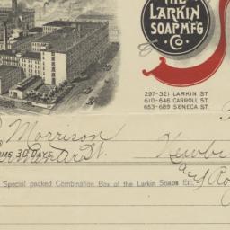 Larkin Soap M'f'g Co.. Bill