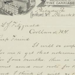 Cortland Wagon Co.. Letter