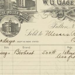 W. G. Gage & Co.. Bill