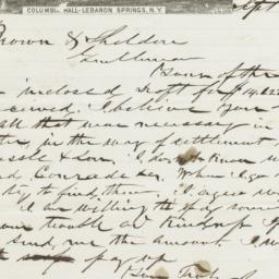 Columbia Hall. Letter