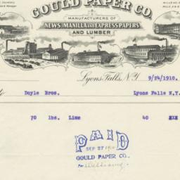 Gould Paper Co.. Bill