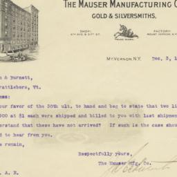 Mauser Manufacturing Co.. L...