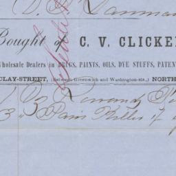 C. V. Clickener & Co.. Bill