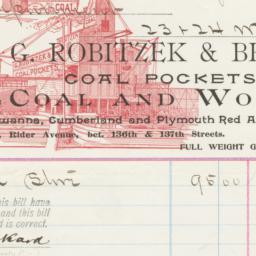 G. Robitzek & Bros.. Bill