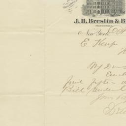 Gilsey House. Letter