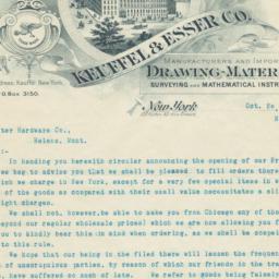 Keuffel & Esser Co.. Letter