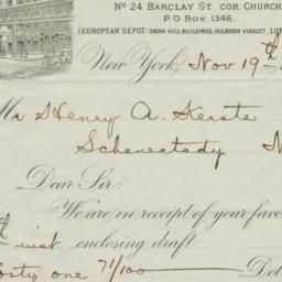 Ladd & Coffin. Letter