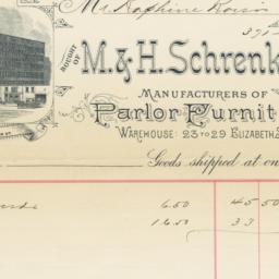 M. & H. Schrenkeisen. Bill