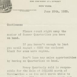 McCall Company. Letter