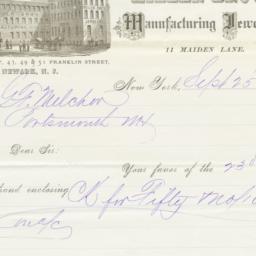Miller Bro's. Letter