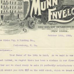 Munn Wired Envelope Company...