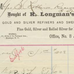 R. Longman's Sons. Bill